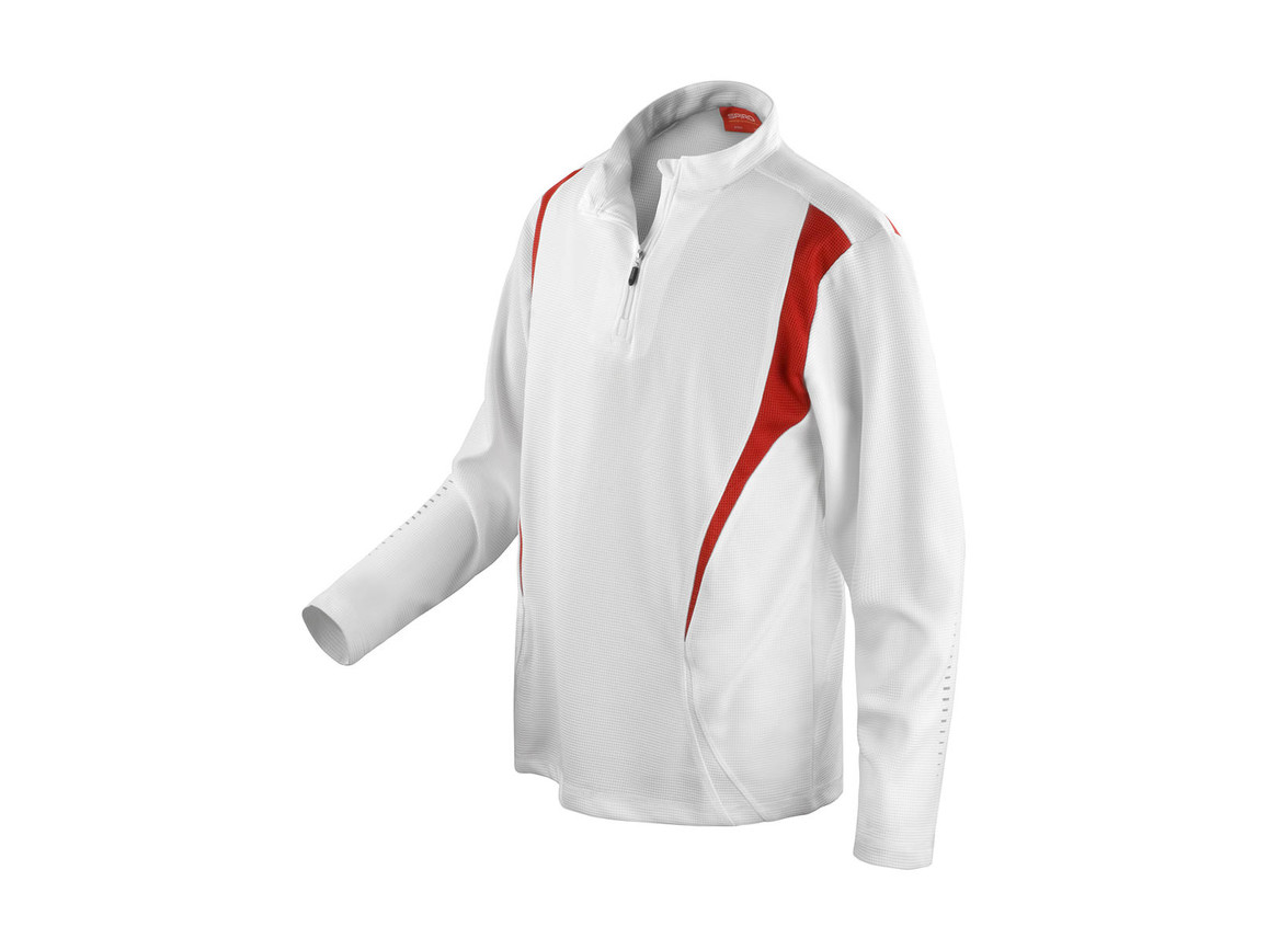 Result Spiro Trial Training Top, White/Red/White, M bedrucken, Art.-Nr. 020330914
