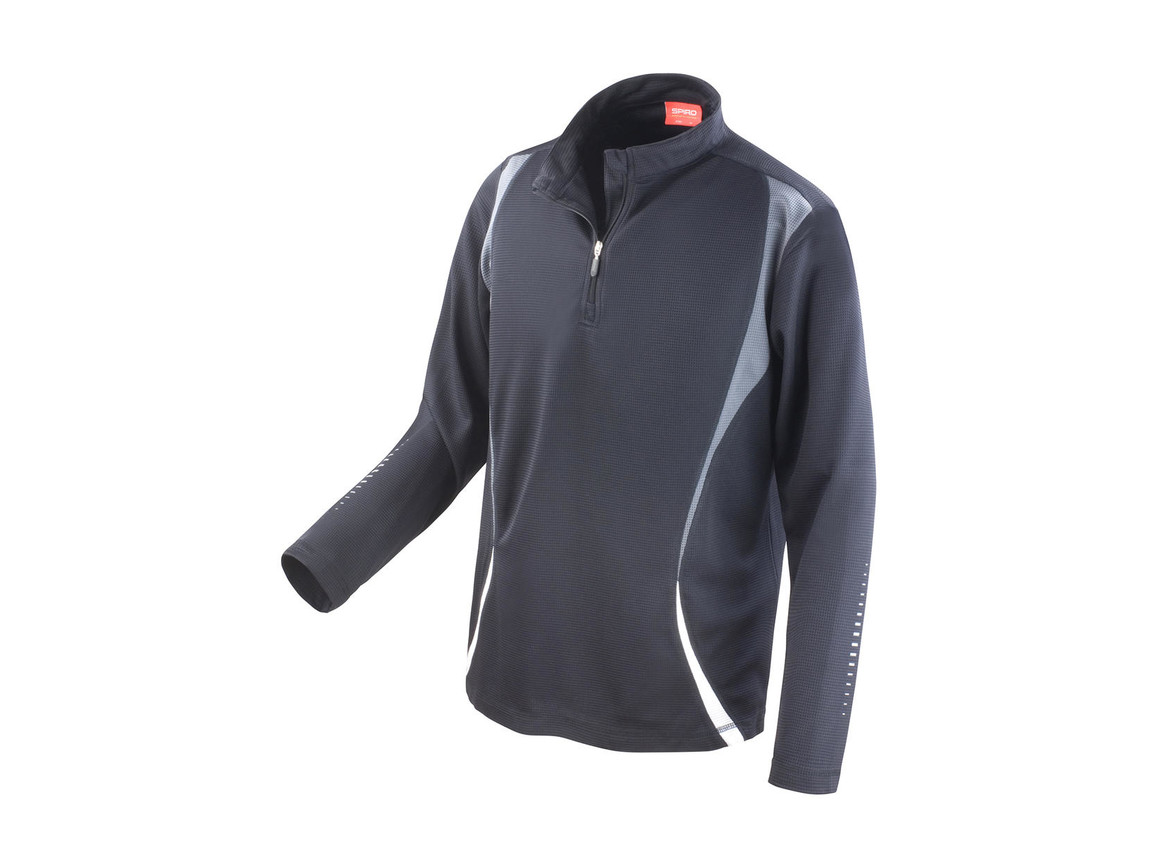 Result Spiro Trial Training Top, Black/Grey/White, XL bedrucken, Art.-Nr. 020331906