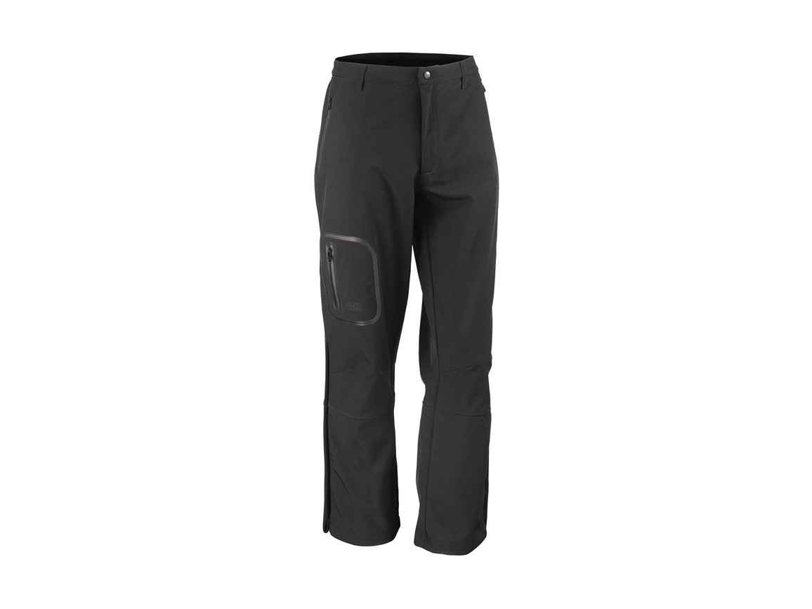 Result Performance Softshell Trousers, Black, L bedrucken, Art.-Nr. 032331015