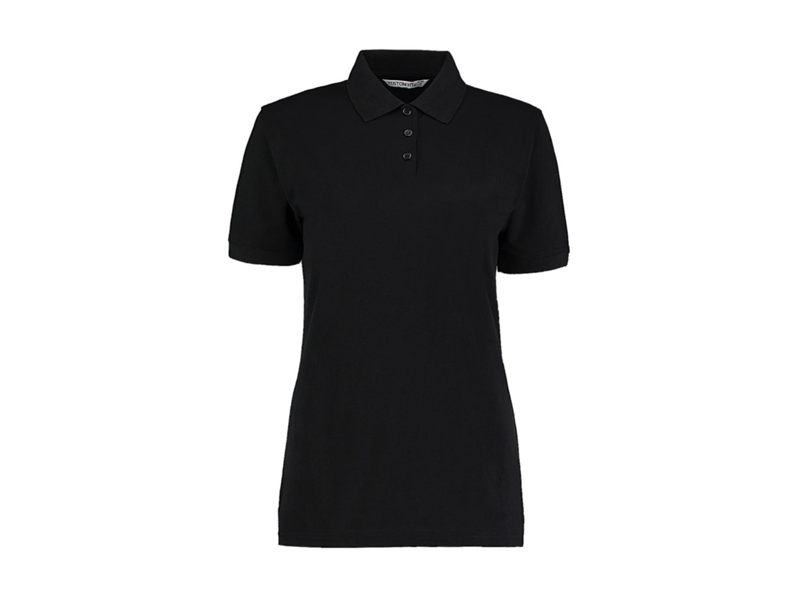 Kustom Kit Ladies` Classic Fit Polo Superwash® 60º, Black, XL bedrucken, Art.-Nr. 042111016