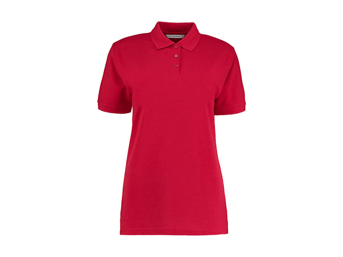 Kustom Kit Ladies` Classic Fit Polo Superwash® 60º, Red, 4XL bedrucken, Art.-Nr. 042114009