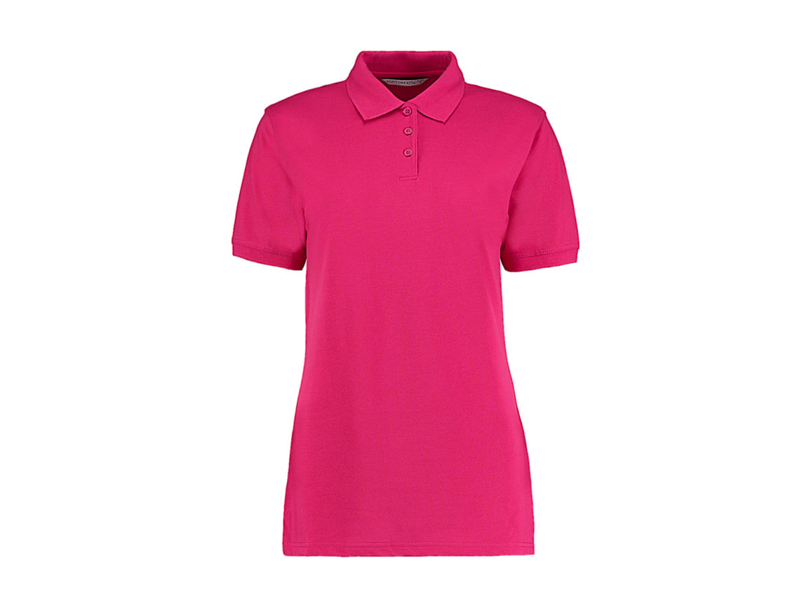 Kustom Kit Ladies` Classic Fit Polo Superwash® 60º, Raspberry, M bedrucken, Art.-Nr. 042114304