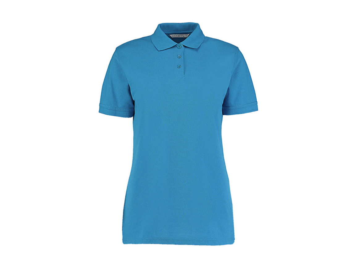 Kustom Kit Ladies` Classic Fit Polo Superwash® 60º, Turquoise, 5XL bedrucken, Art.-Nr. 042115360