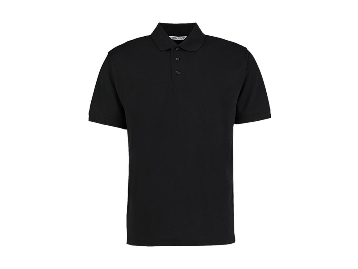 Kustom Kit Men`s Classic Fit Polo Superwash® 60º, Black, XL bedrucken, Art.-Nr. 043111016