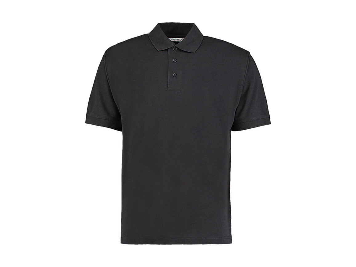 Kustom Kit Men`s Classic Fit Polo Superwash® 60º, Graphite, L bedrucken, Art.-Nr. 043111315