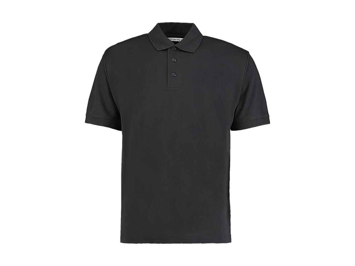 Kustom Kit Men`s Classic Fit Polo Superwash® 60º, Graphite, M bedrucken, Art.-Nr. 043111314