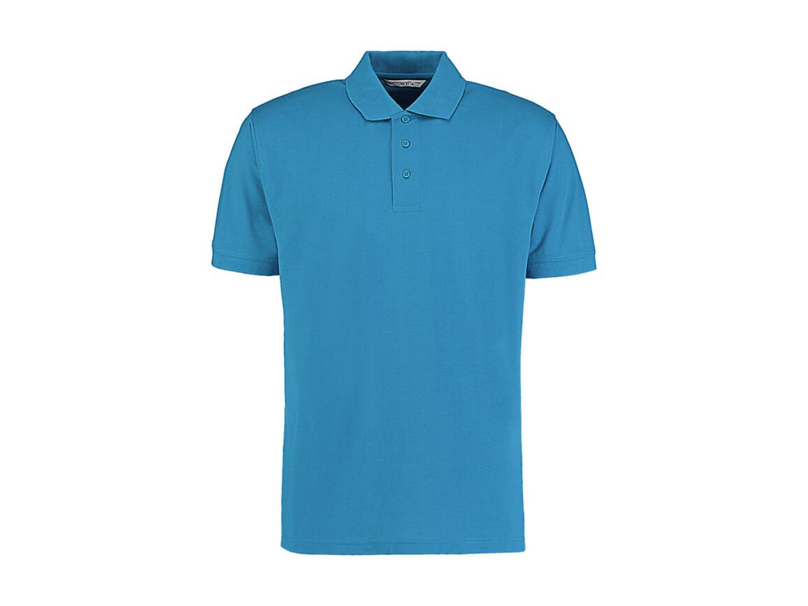 Kustom Kit Men`s Classic Fit Polo Superwash® 60º, Turquoise, M bedrucken, Art.-Nr. 043115364