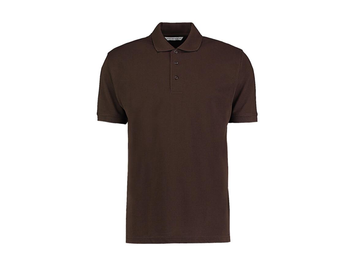Kustom Kit Men`s Classic Fit Polo Superwash® 60º, Chocolate, M bedrucken, Art.-Nr. 043117014