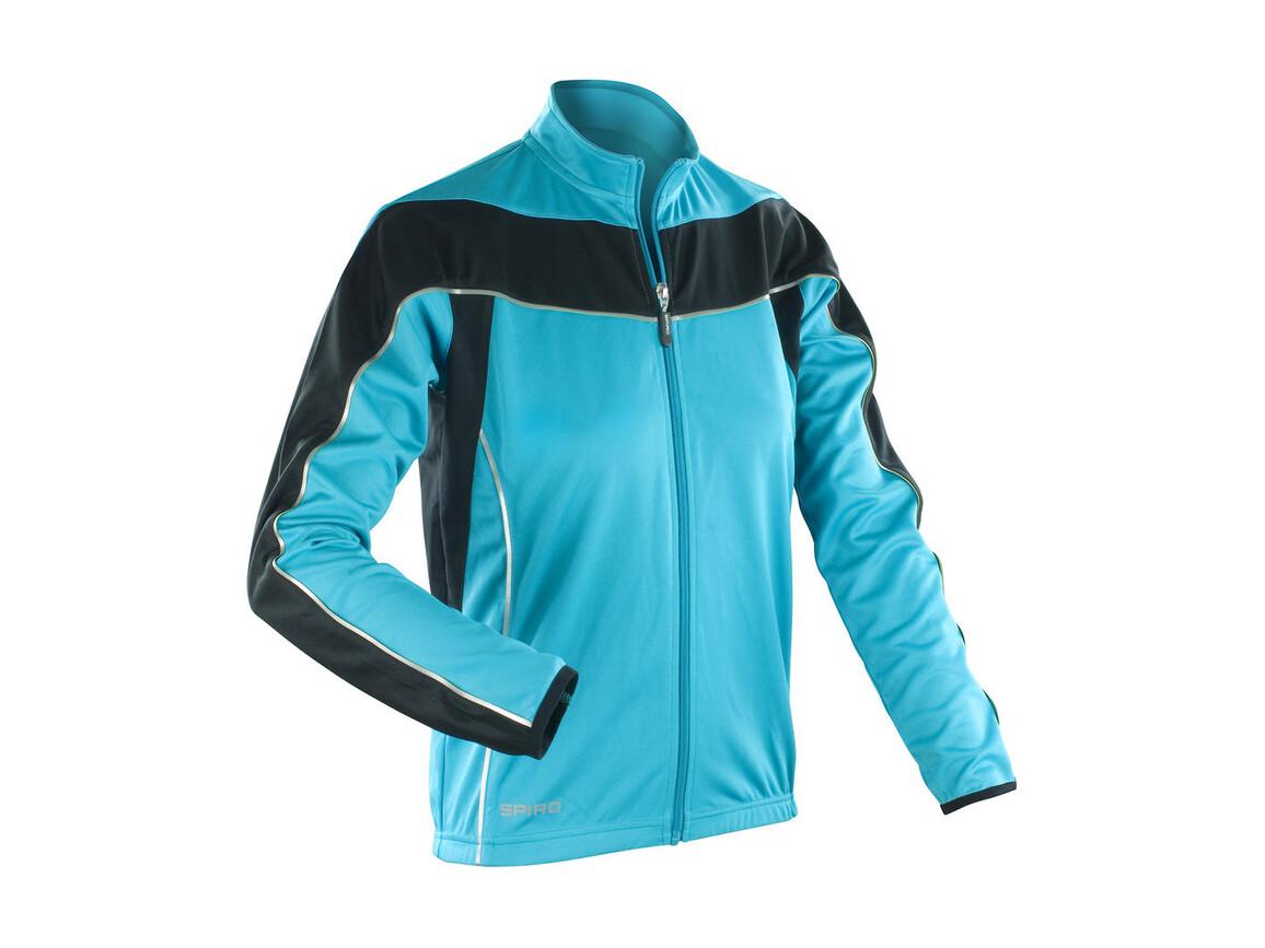 Result Ladies` Bikewear Performance Top LS, Aqua/Black, XS (8) bedrucken, Art.-Nr. 043333722