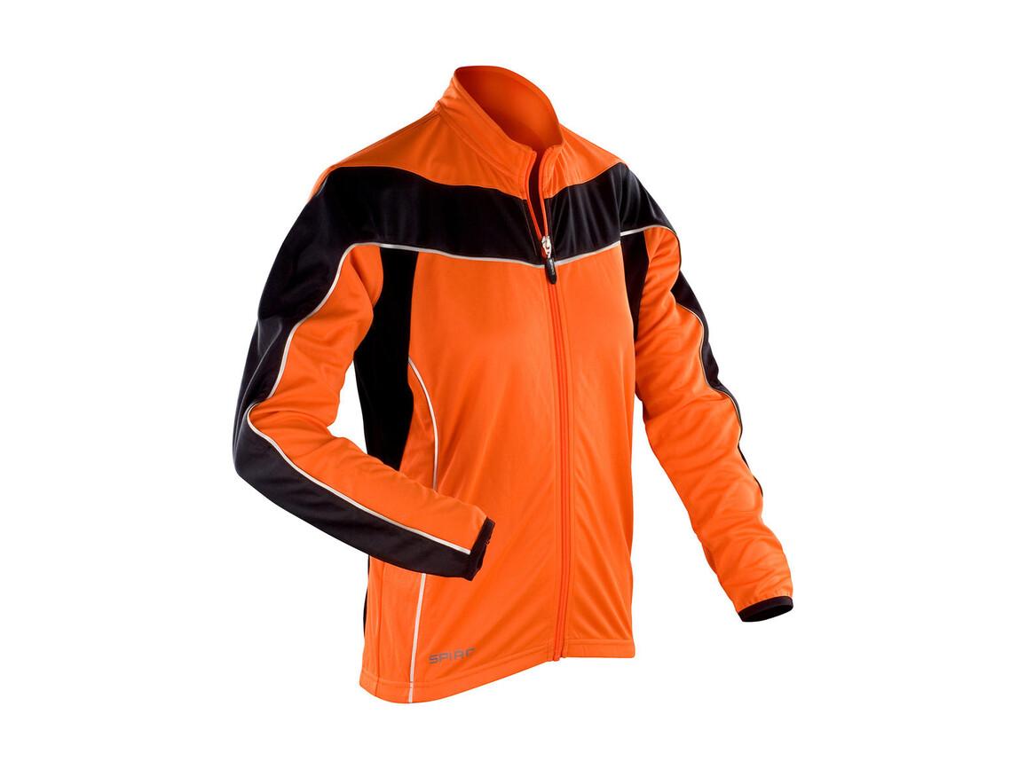Result Ladies` Bikewear Performance Top LS, Orange/Black, XL (16) bedrucken, Art.-Nr. 043334606