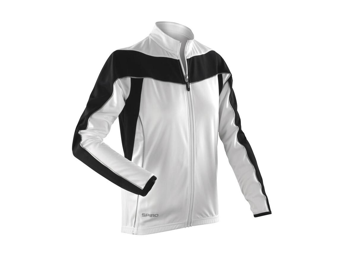 Result Ladies` Bikewear Performance Top LS, White/Black, XS (8) bedrucken, Art.-Nr. 043330562
