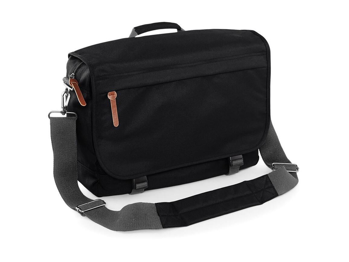 Bag Base Campus Laptop Messenger, Black, One Size bedrucken, Art.-Nr. 044291010
