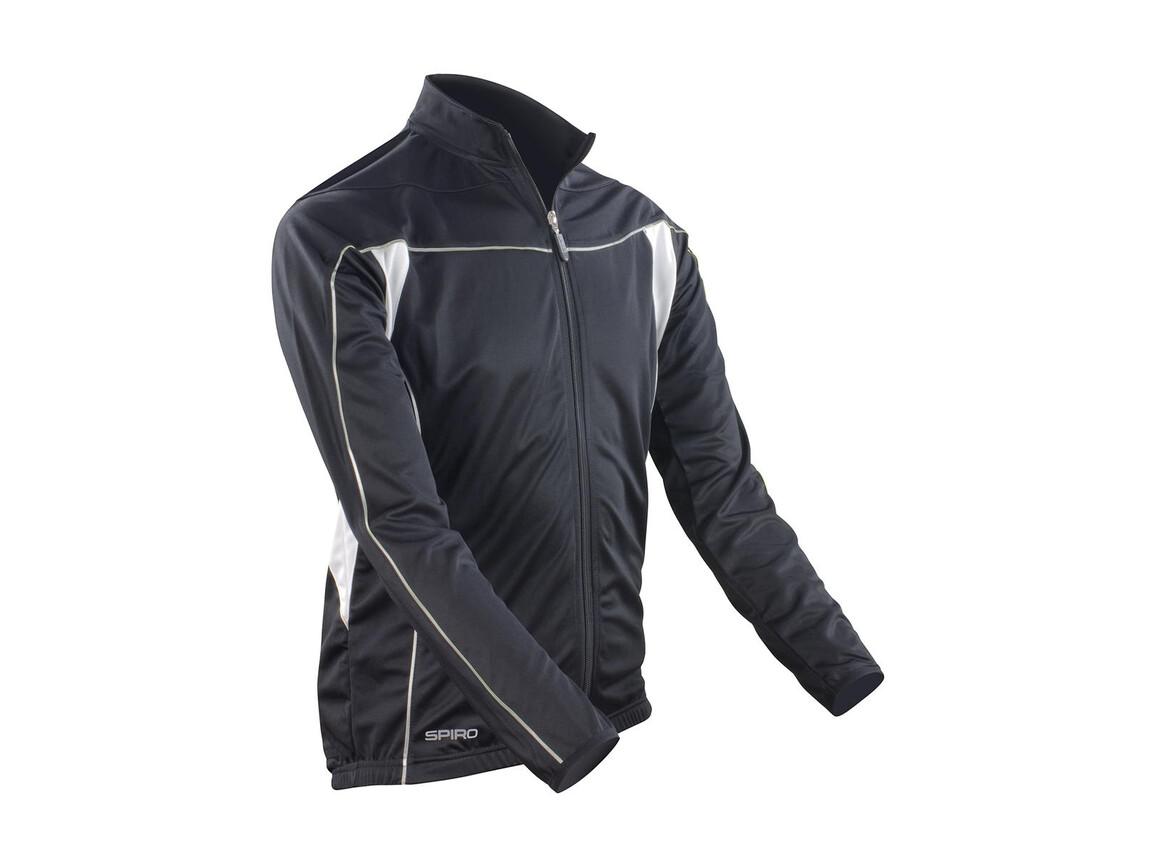 Result Bikewear Performance Top LS, Black/White, 2XL bedrucken, Art.-Nr. 044331507