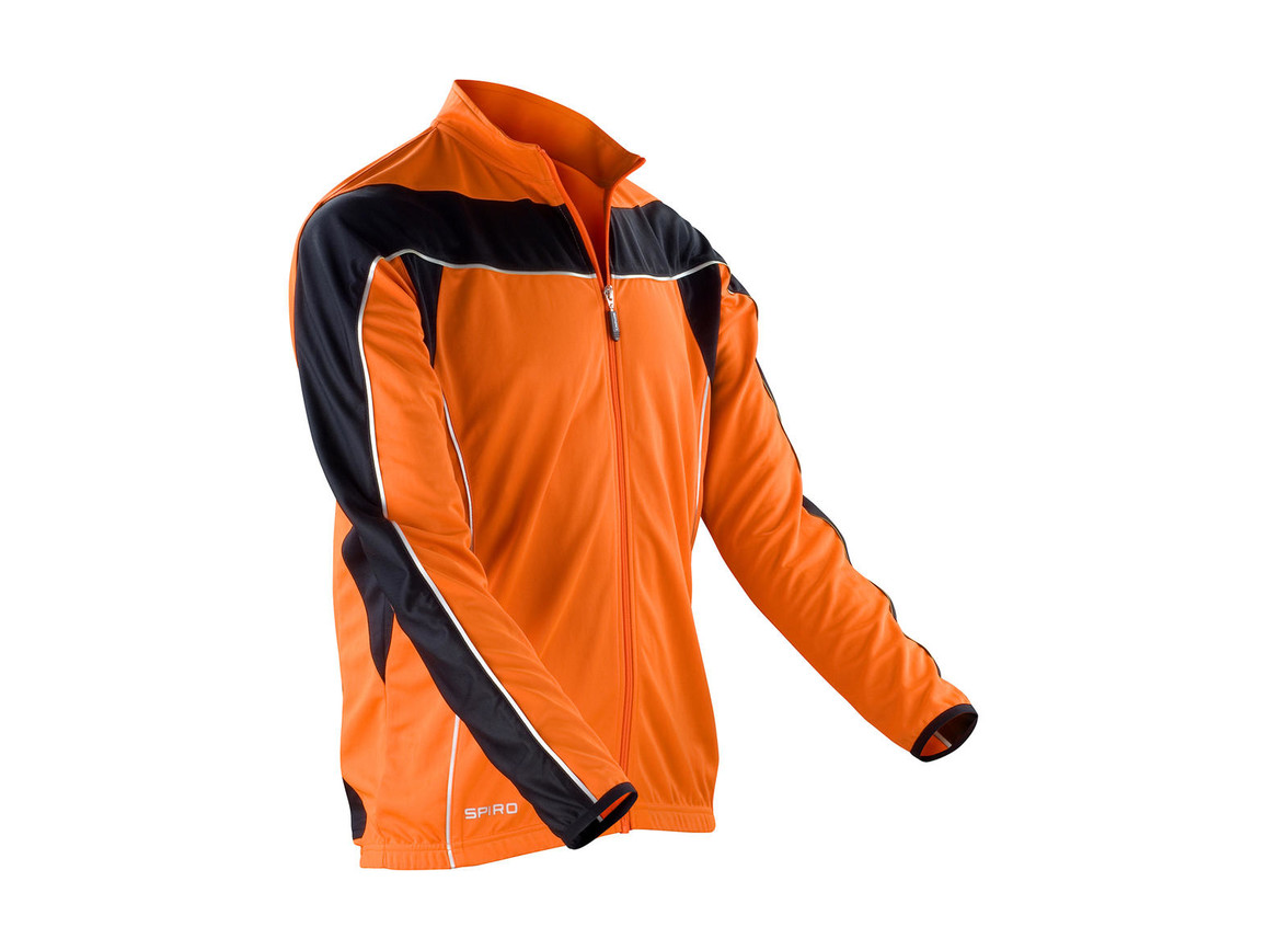 Result Bikewear Performance Top LS, Orange/Black, XL bedrucken, Art.-Nr. 044334606