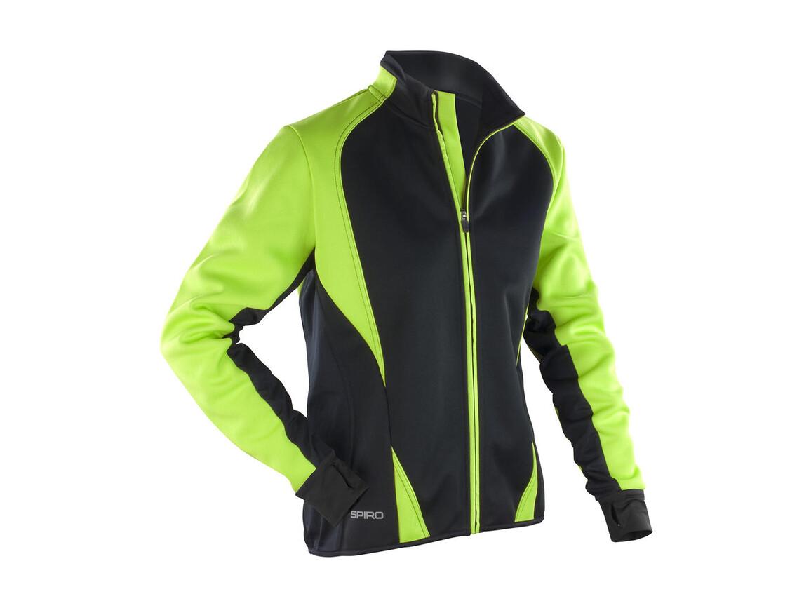 Result Women`s Freedom Softshell Jacket, Lime/Black, M (12) bedrucken, Art.-Nr. 045335524