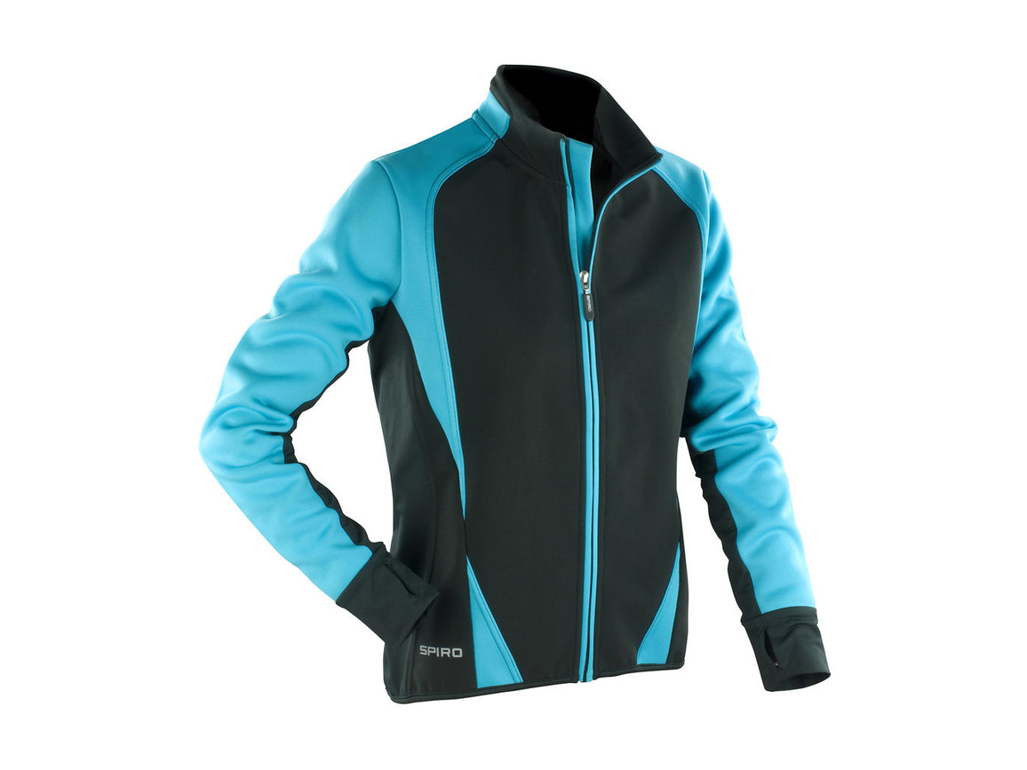 Result Women`s Freedom Softshell Jacket, Aqua/Black, L (14) bedrucken, Art.-Nr. 045333725