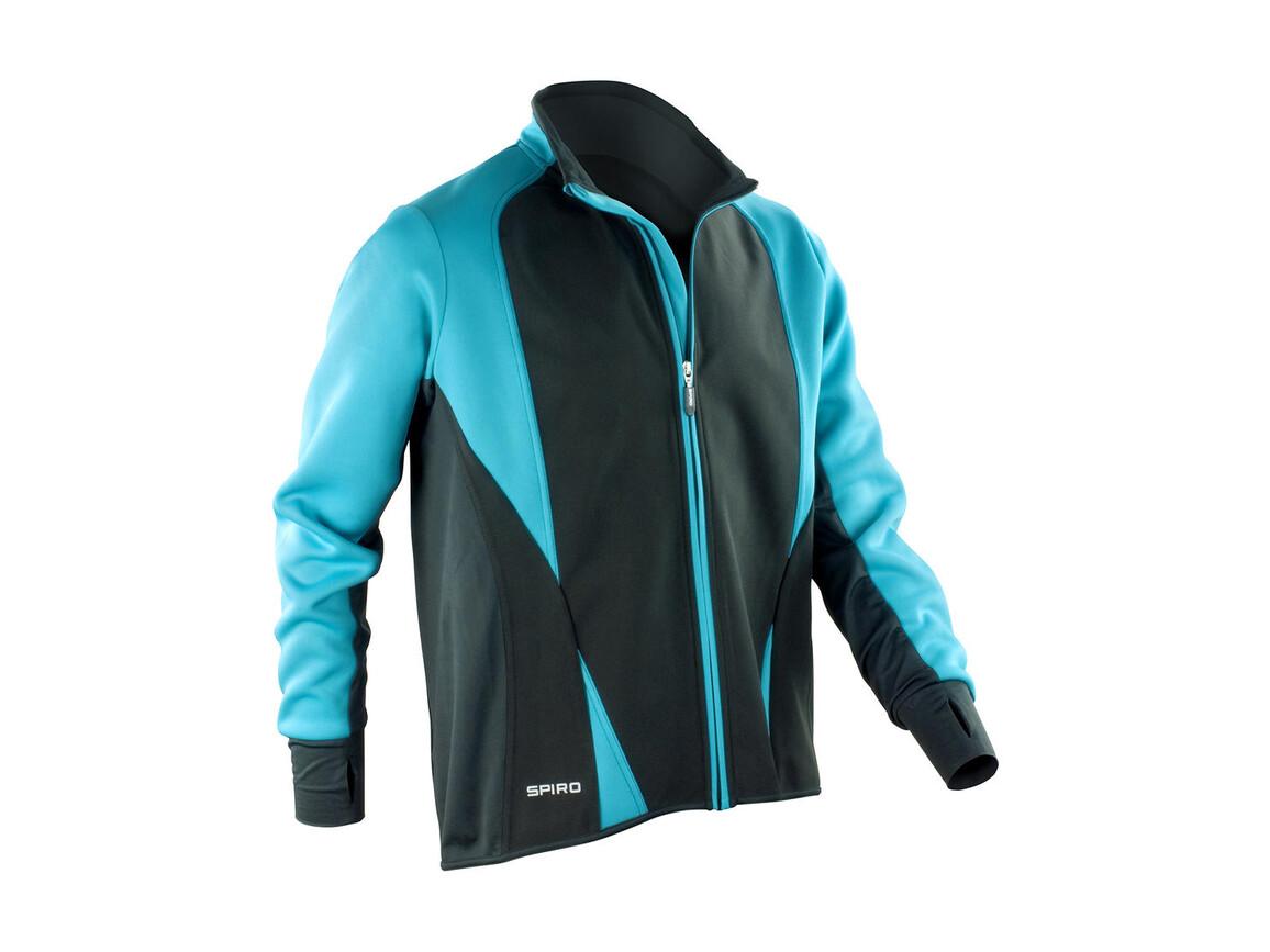 Result Men`s Freedom Softshell Jacket, Aqua/Black, L bedrucken, Art.-Nr. 046333725