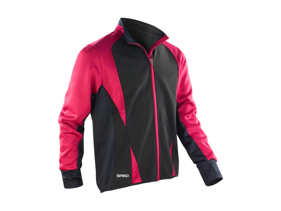 Result Men`s Freedom Softshell Jacket, Magenta/Black, XL bedrucken, Art.-Nr. 046334536