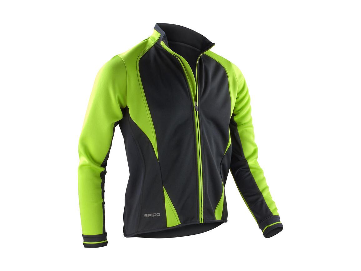 Result Men`s Freedom Softshell Jacket, Lime/Black, XL bedrucken, Art.-Nr. 046335526