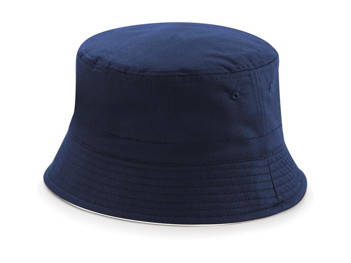 Beechfield Reversible Bucket Hat, French Navy/White, S/M bedrucken, Art.-Nr. 046692501