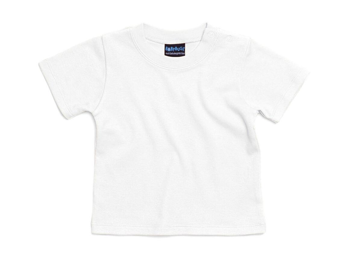 BabyBugz Baby T-Shirt, White, 6-12 bedrucken, Art.-Nr. 047470003