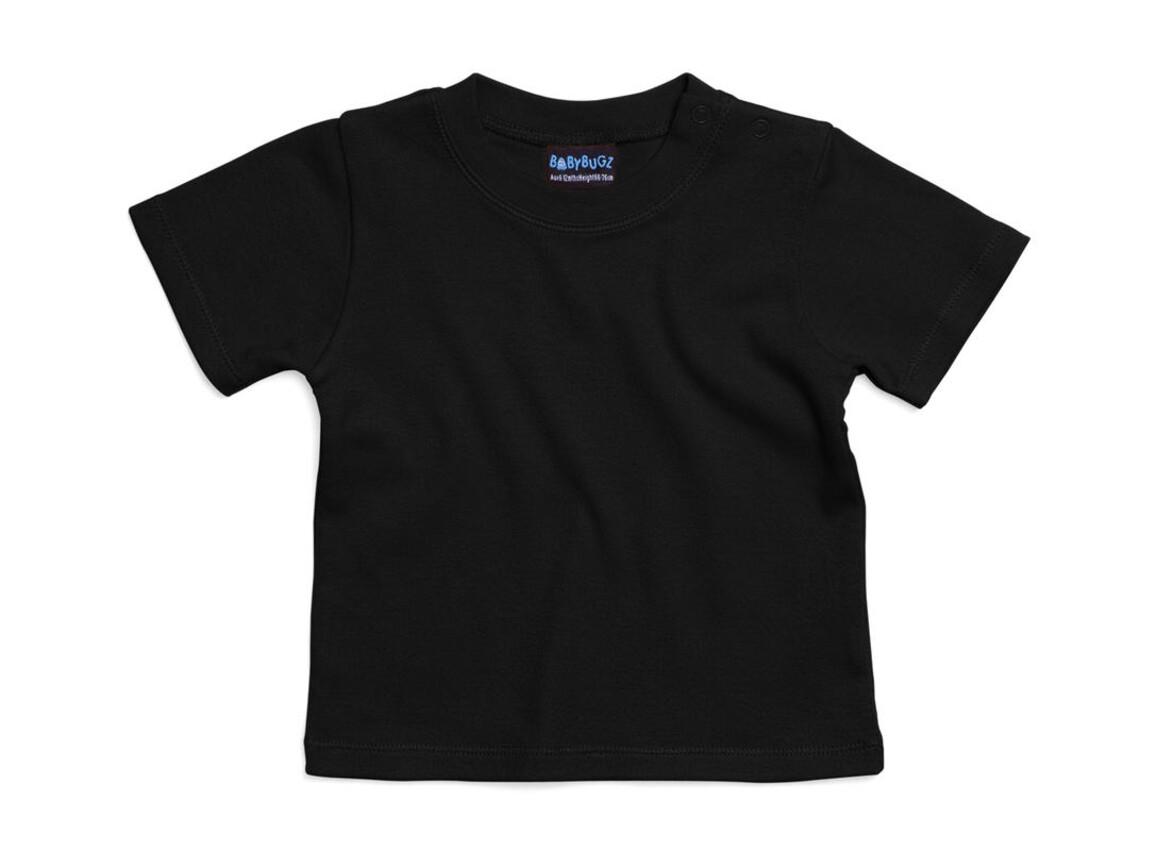 BabyBugz Baby T-Shirt, Black, 0-3 bedrucken, Art.-Nr. 047471011