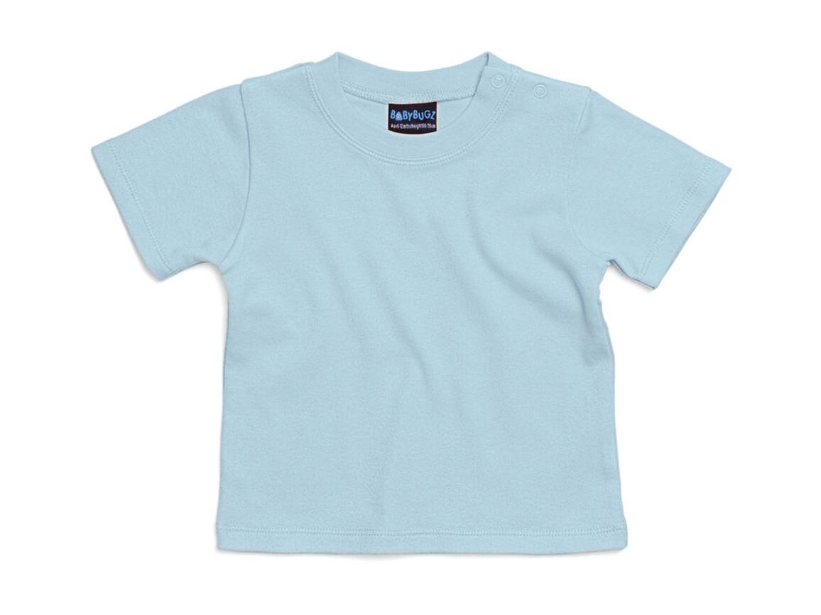 BabyBugz Baby T-Shirt, Dusty Blue, 18-24 bedrucken, Art.-Nr. 047473115