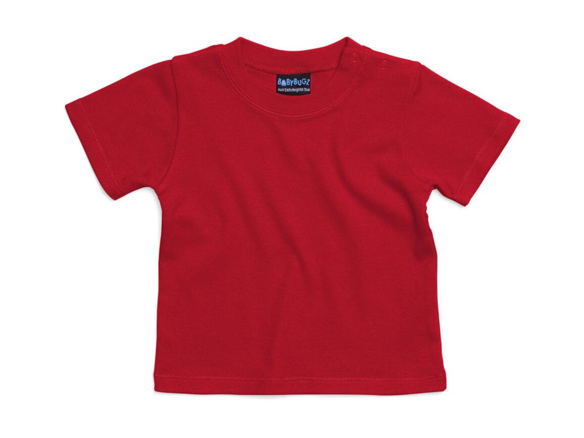 BabyBugz Baby T-Shirt, Red, 0-3 bedrucken, Art.-Nr. 047474001