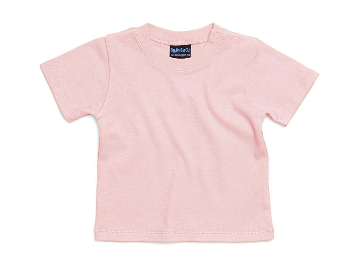 BabyBugz Baby T-Shirt, Powder Pink, 12-18 bedrucken, Art.-Nr. 047474174