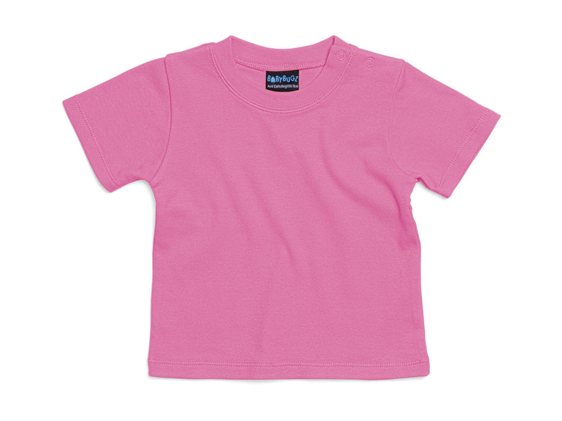 BabyBugz Baby T-Shirt, Bubble Gum Pink, 12-18 bedrucken, Art.-Nr. 047474224