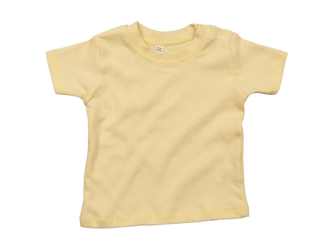 BabyBugz Baby T-Shirt, Soft Yellow, 0-3 bedrucken, Art.-Nr. 047476041
