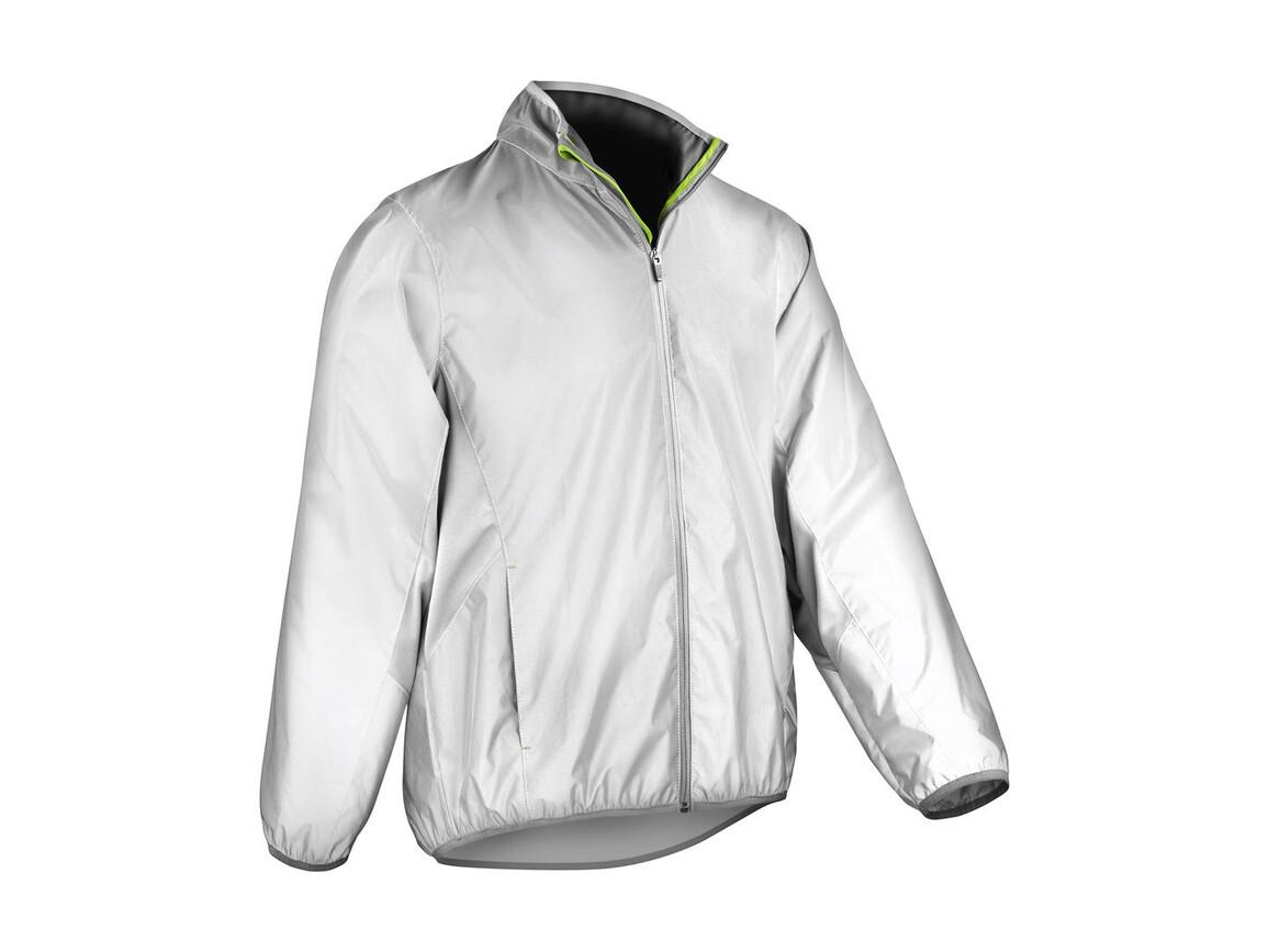 Result Reflec-Tex Hi-Vis Jacket, Neon White, XL bedrucken, Art.-Nr. 049330116