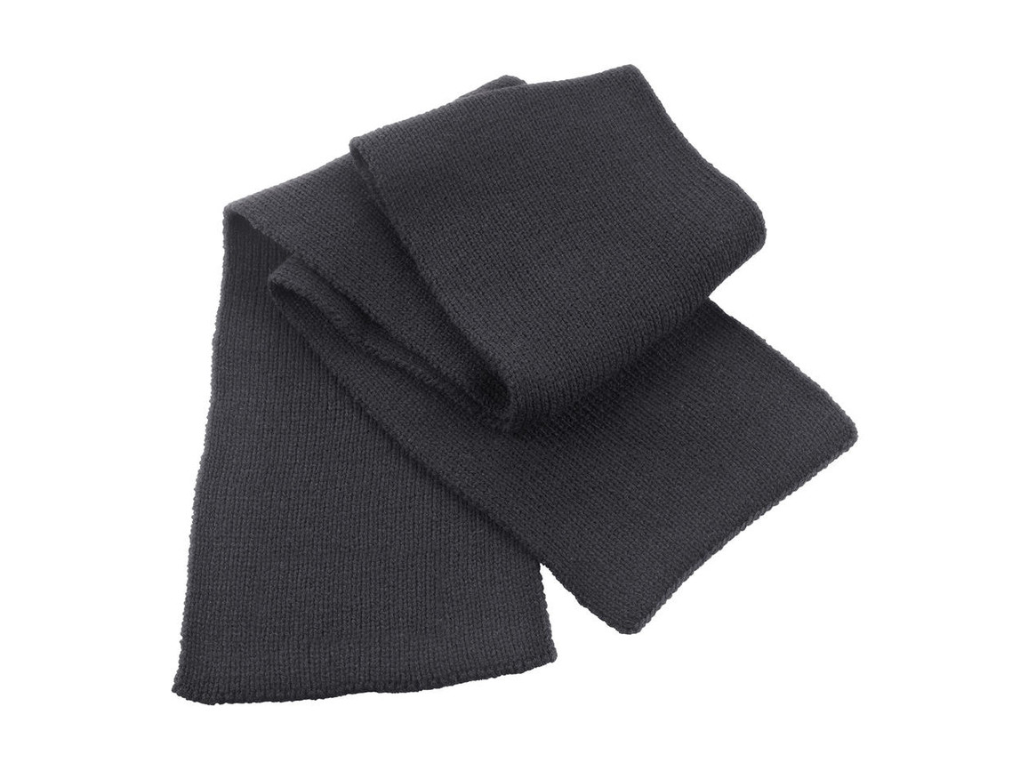 Result Classic Heavy Knit Scarf, Charcoal, One Size bedrucken, Art.-Nr. 050331300