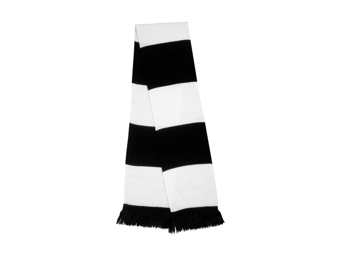Result Team Scarf, Black/White, One Size bedrucken, Art.-Nr. 051331500