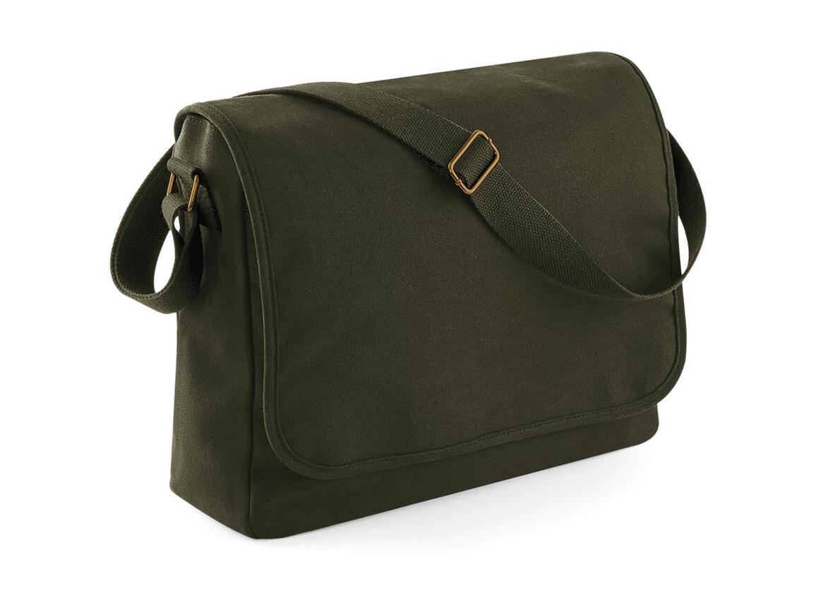 Bag Base Classic Canvas Messenger, Military Green, One Size bedrucken, Art.-Nr. 052295060