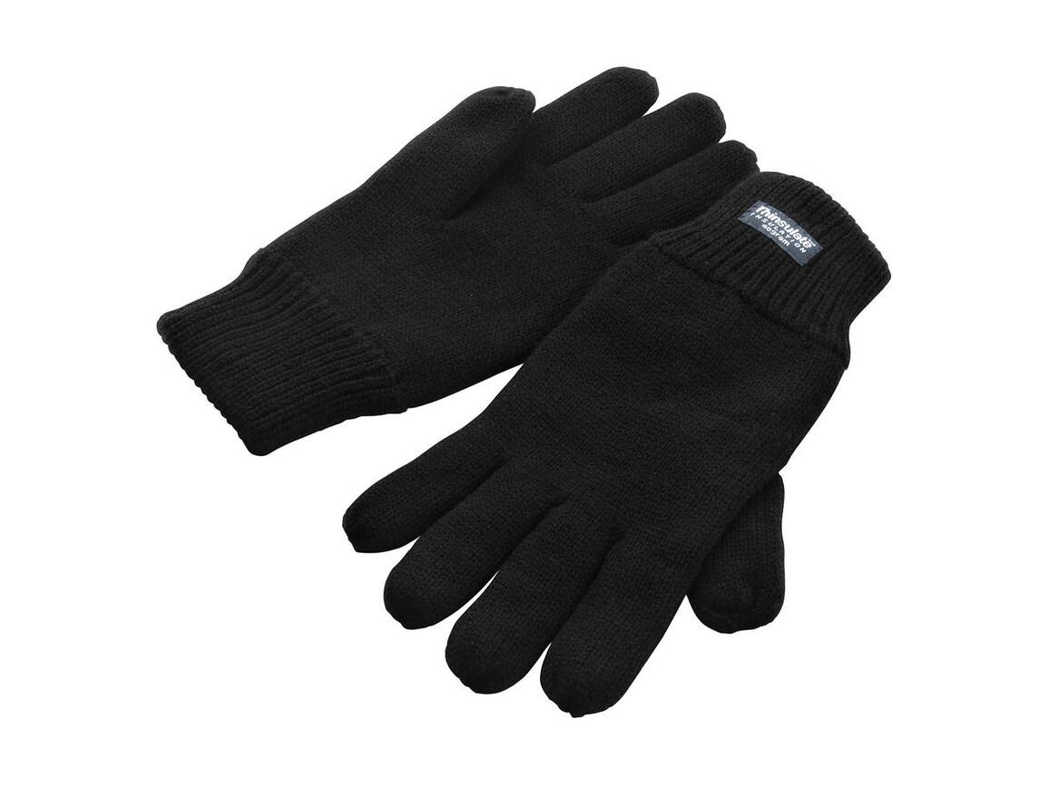 Result Fully Lined Thinsulate Gloves, Black, S/M bedrucken, Art.-Nr. 052331014