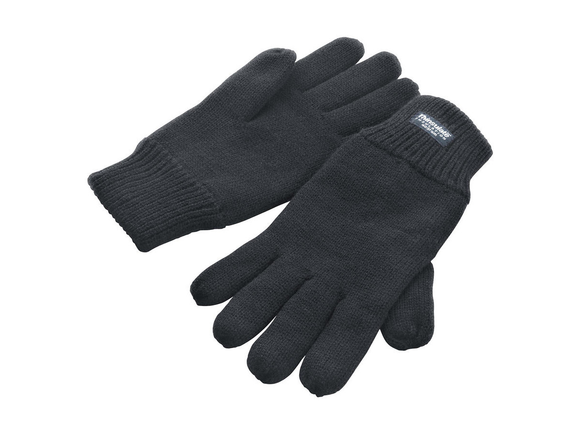 Result Fully Lined Thinsulate Gloves, Charcoal, L/XL bedrucken, Art.-Nr. 052331306
