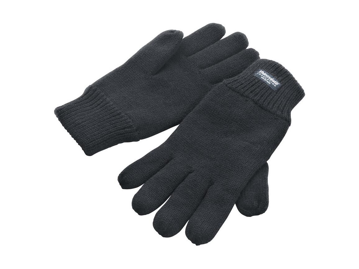 Result Fully Lined Thinsulate Gloves, Charcoal, S/M bedrucken, Art.-Nr. 052331304