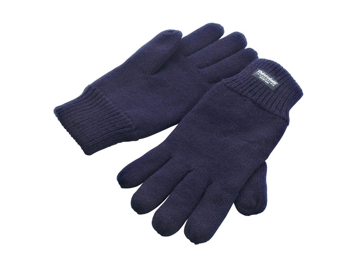 Result Fully Lined Thinsulate Gloves, Navy, S/M bedrucken, Art.-Nr. 052332004