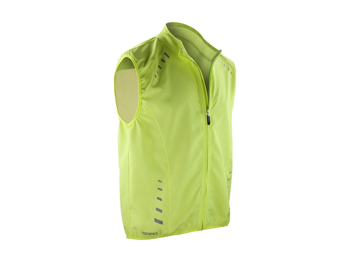 Result Spiro Bikewear Crosslite Gilet, Neon Lime, M bedrucken, Art.-Nr. 053335224