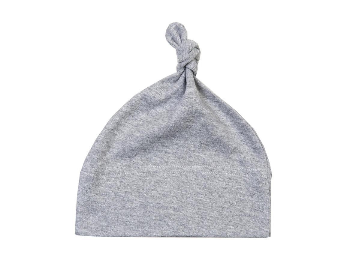 BabyBugz Baby 1 Knot Hat, Heather Grey Melange, One Size bedrucken, Art.-Nr. 054471260