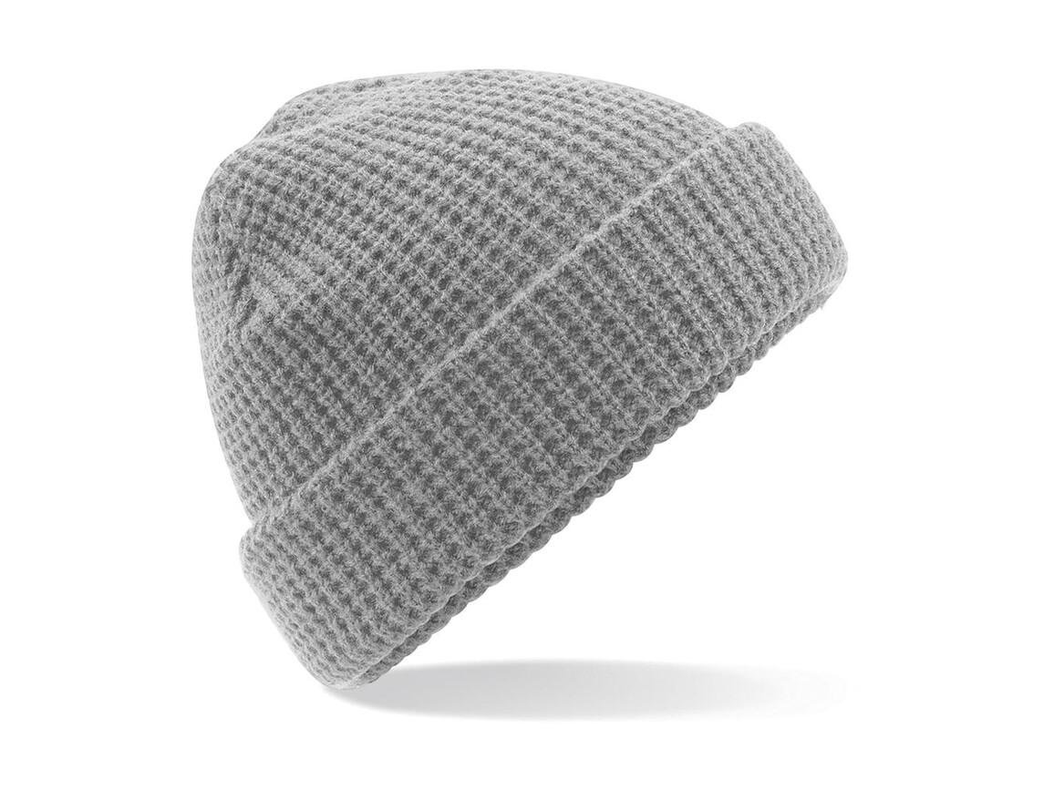 Beechfield Classic Waffle Knit Beanie, Light Grey, One Size bedrucken, Art.-Nr. 054691380