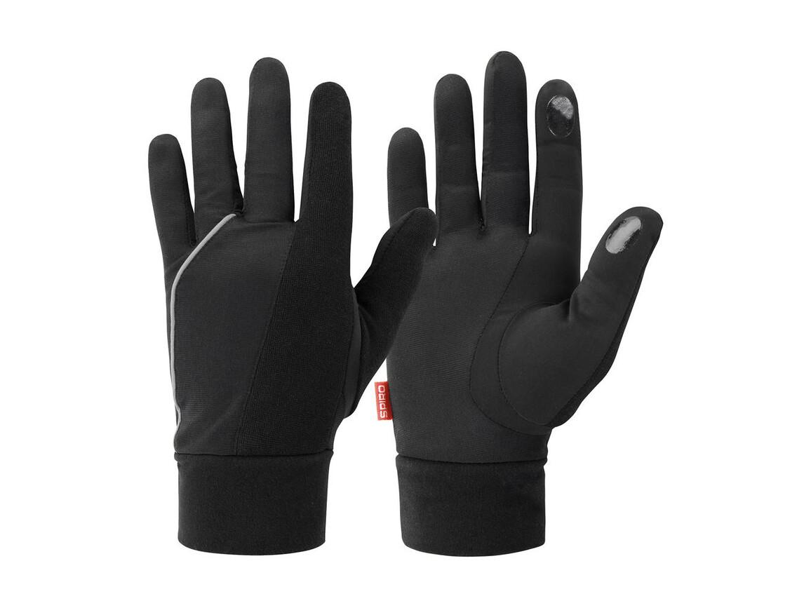 Result Elite Running Gloves, Black, M bedrucken, Art.-Nr. 055331014