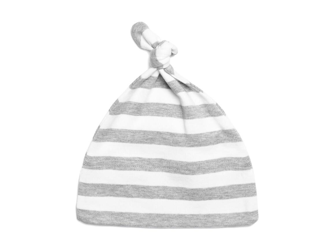 BabyBugz Baby Striped 1 Knot Hat, Light Grey Melange/White, One Size bedrucken, Art.-Nr. 055471600