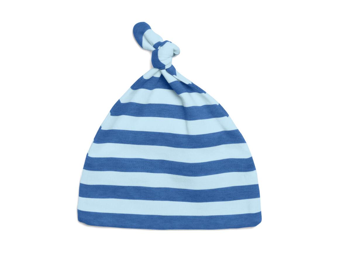 BabyBugz Baby Striped 1 Knot Hat, Antique Blue/Dusty Blue, One Size bedrucken, Art.-Nr. 055473610