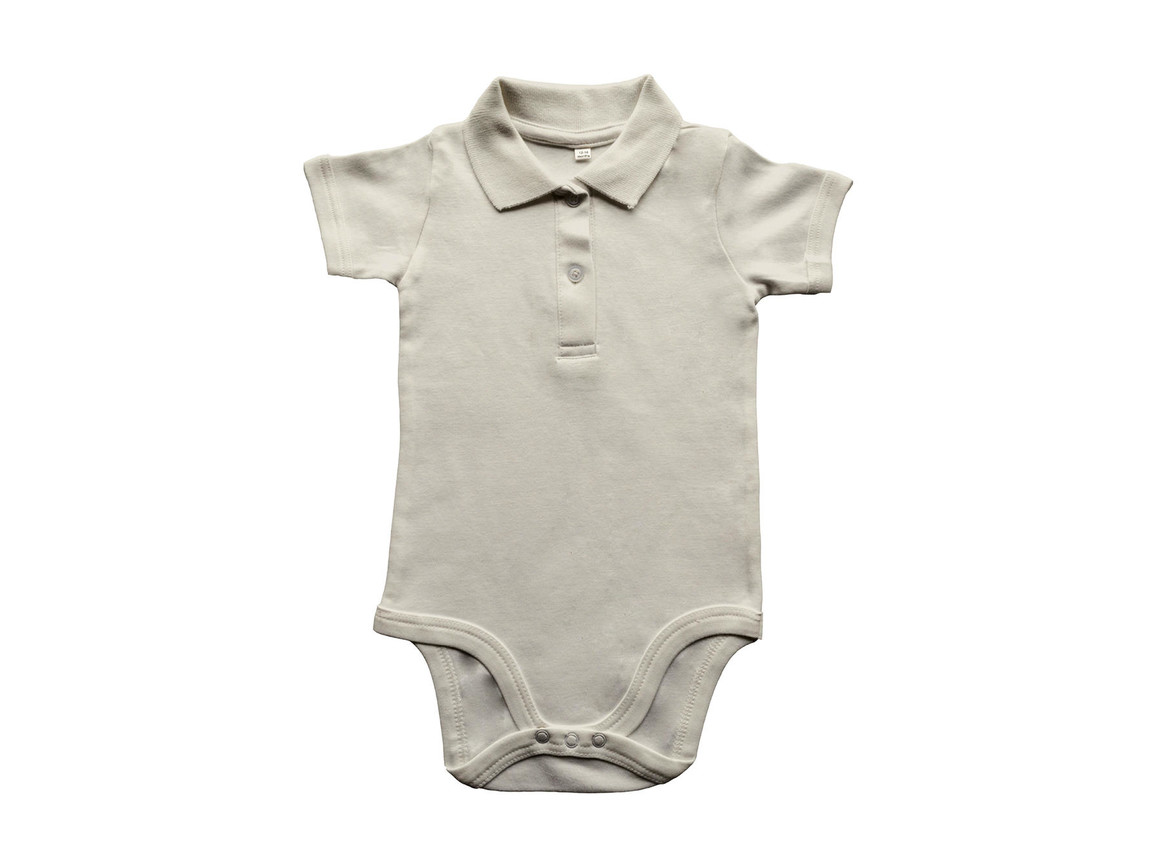 BabyBugz Baby Organic Polo Bodysuit, Organic Natural, 12-18 bedrucken, Art.-Nr. 057470084