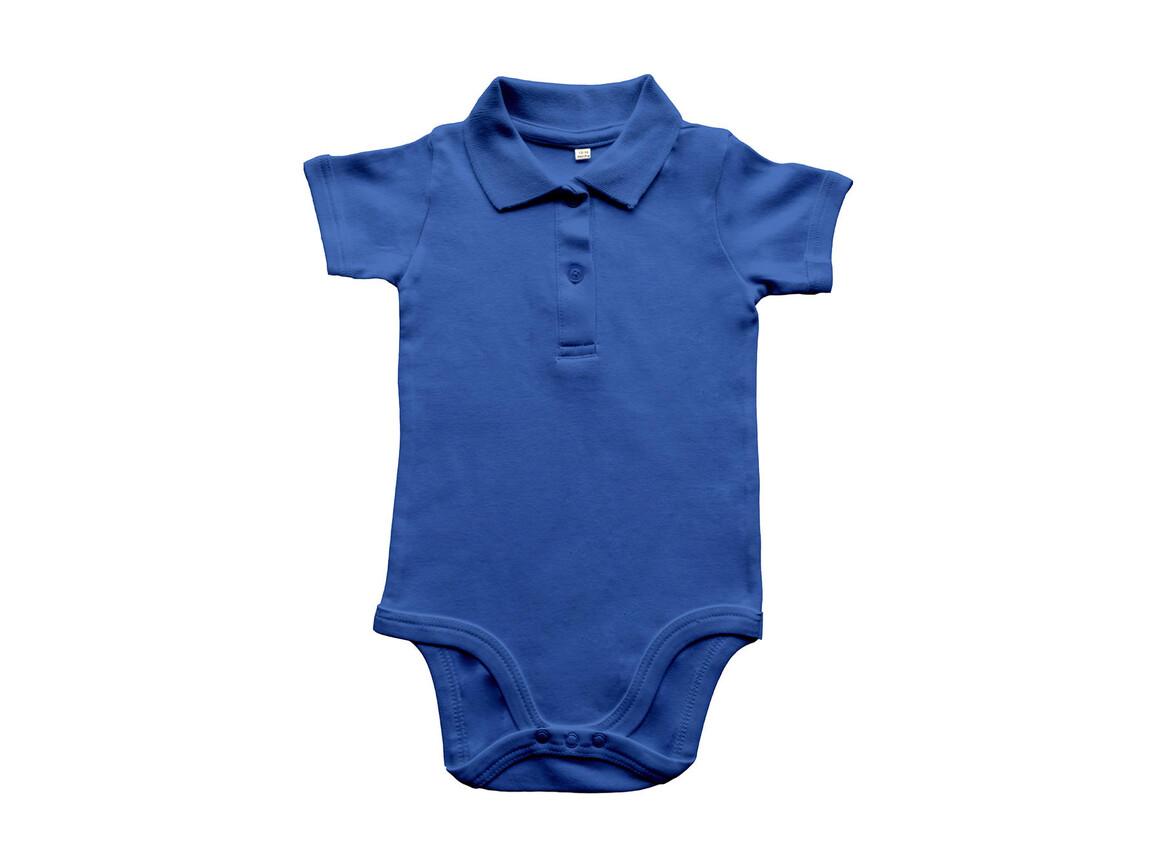 BabyBugz Baby Organic Polo Bodysuit, Cobalt Blue, 12-18 bedrucken, Art.-Nr. 057473064