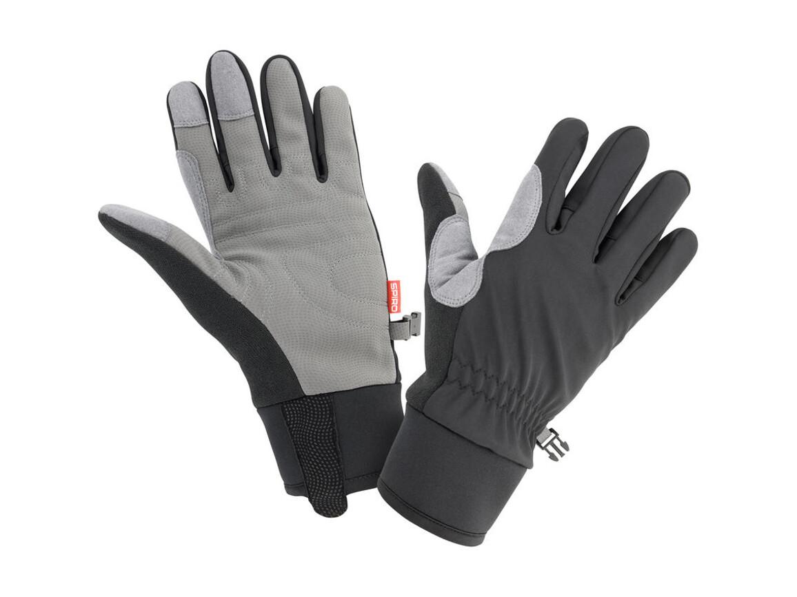 Result Spiro Winter Gloves, Black/Grey, M bedrucken, Art.-Nr. 058331514