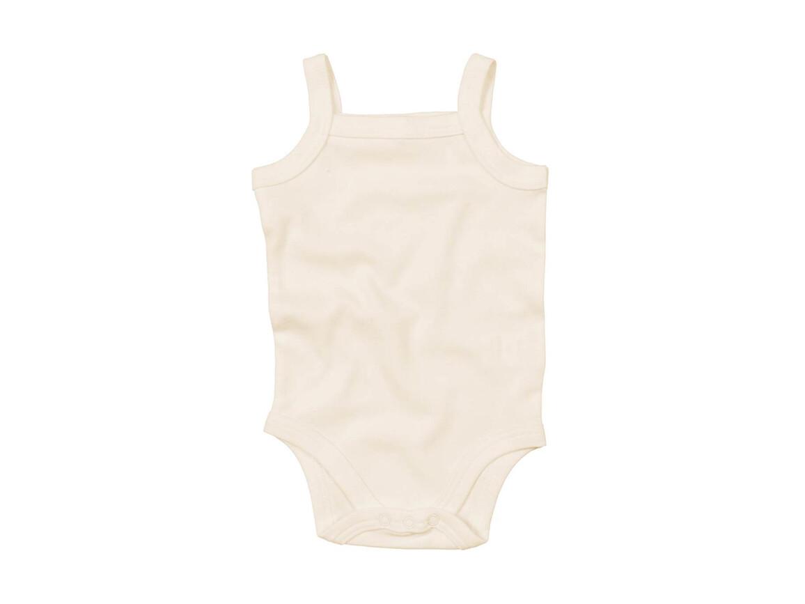 BabyBugz Baby Organic Strap Vest Bodysuit, Organic Natural, 3-6 bedrucken, Art.-Nr. 058470082
