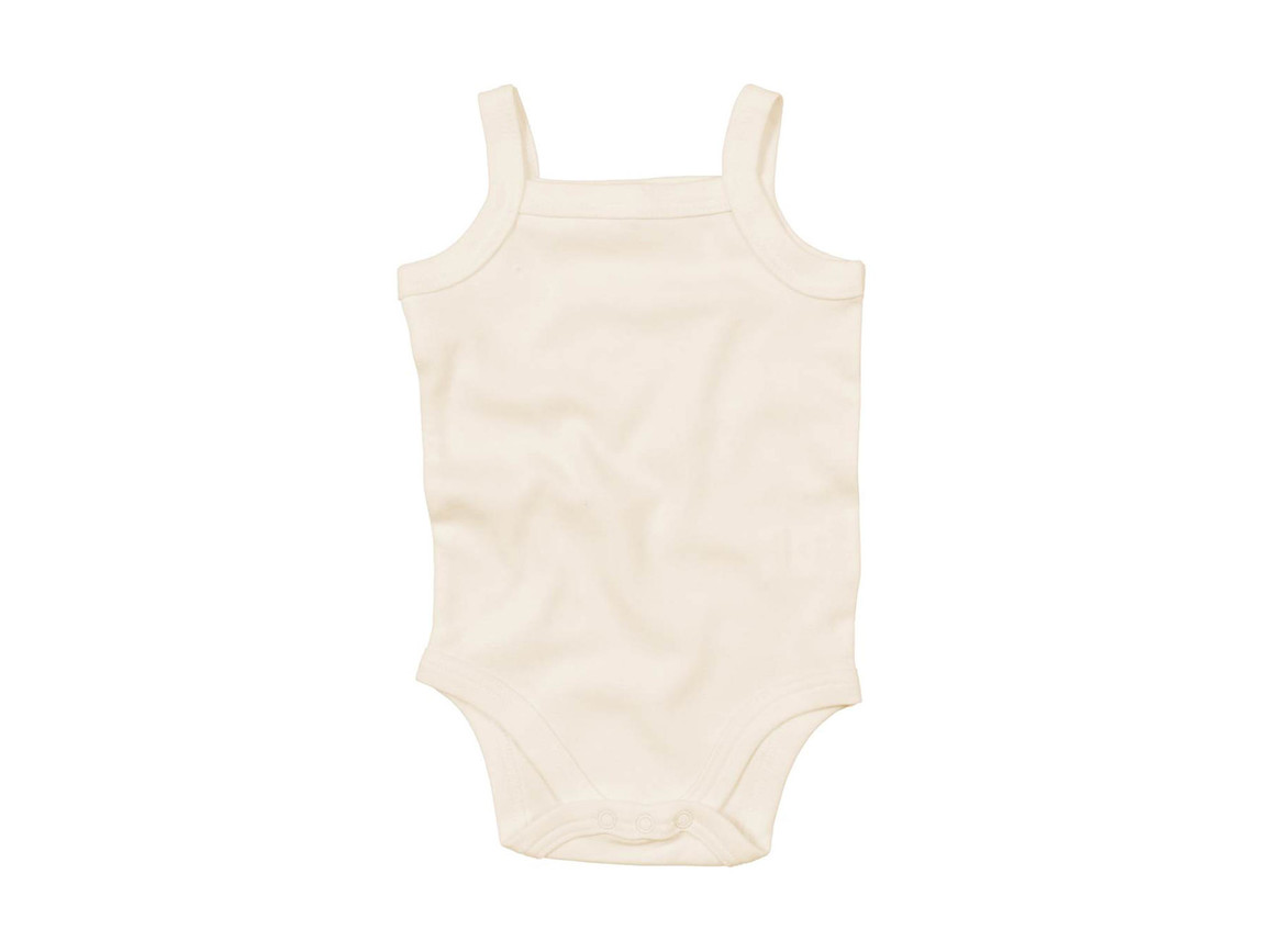 BabyBugz Baby Organic Strap Vest Bodysuit, Organic Natural, 6-12 bedrucken, Art.-Nr. 058470083